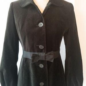 Ann Taylor Loft Jackets & Coats - Ann Taylor Loft Petites Black Velvet Jacket Sz 4P